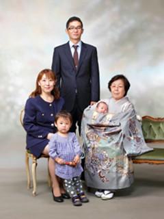 横須賀・柳田写真館・撮影・お宮参り・ご家族