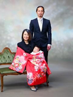 横須賀・柳田写真館・撮影・お宮参り・ご両親